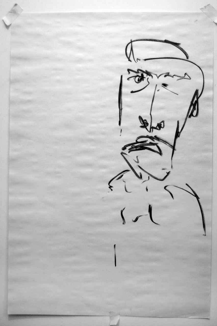 Joe Howlett - 'Anggi' - Charcoal on paper - 2011