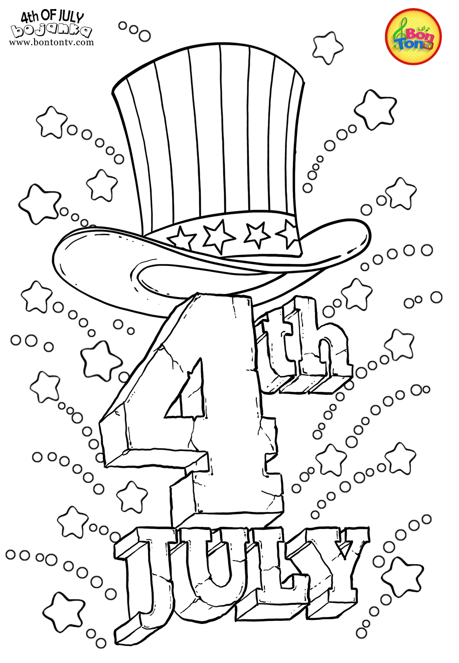 Independence Day Fourth Of July July 4th 4th Of July Usa America Free Printable Coloring Summer Coloring Pages Free Printable Coloring Pages July Colors [ 1321 x 915 Pixel ]