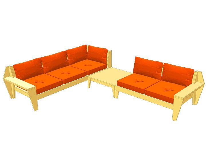 Furniture plan outdoor sofa set YelmoXL   DIY furniture plan ...