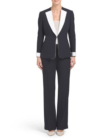 a02f21a6d3d Crepe Pant Suit - Suits - T.J.Maxx
