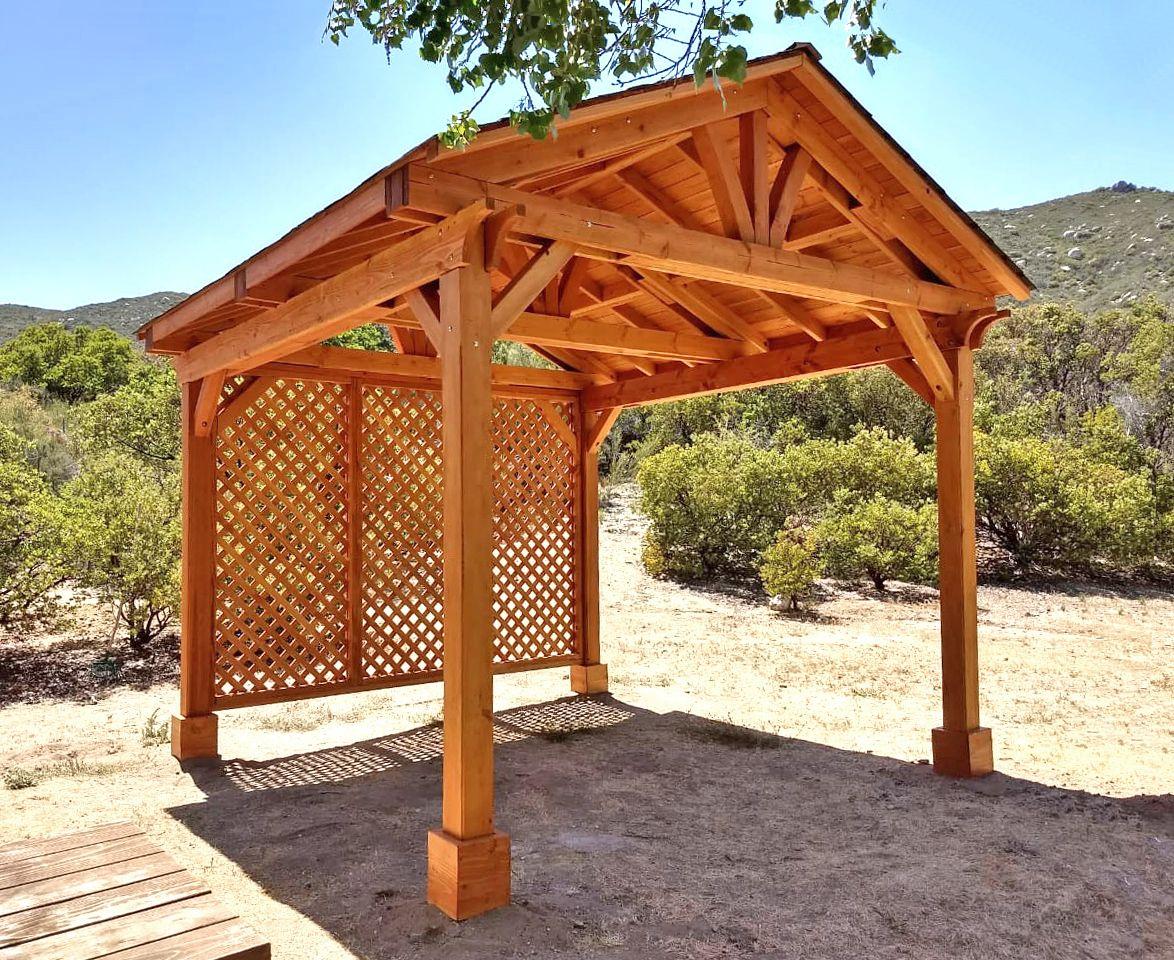 Del Norte Outdoor Kitchen Pavilion Redwood Pavilion Kit For Kitchens Outdoor Kitchen Pavilion Del Norte
