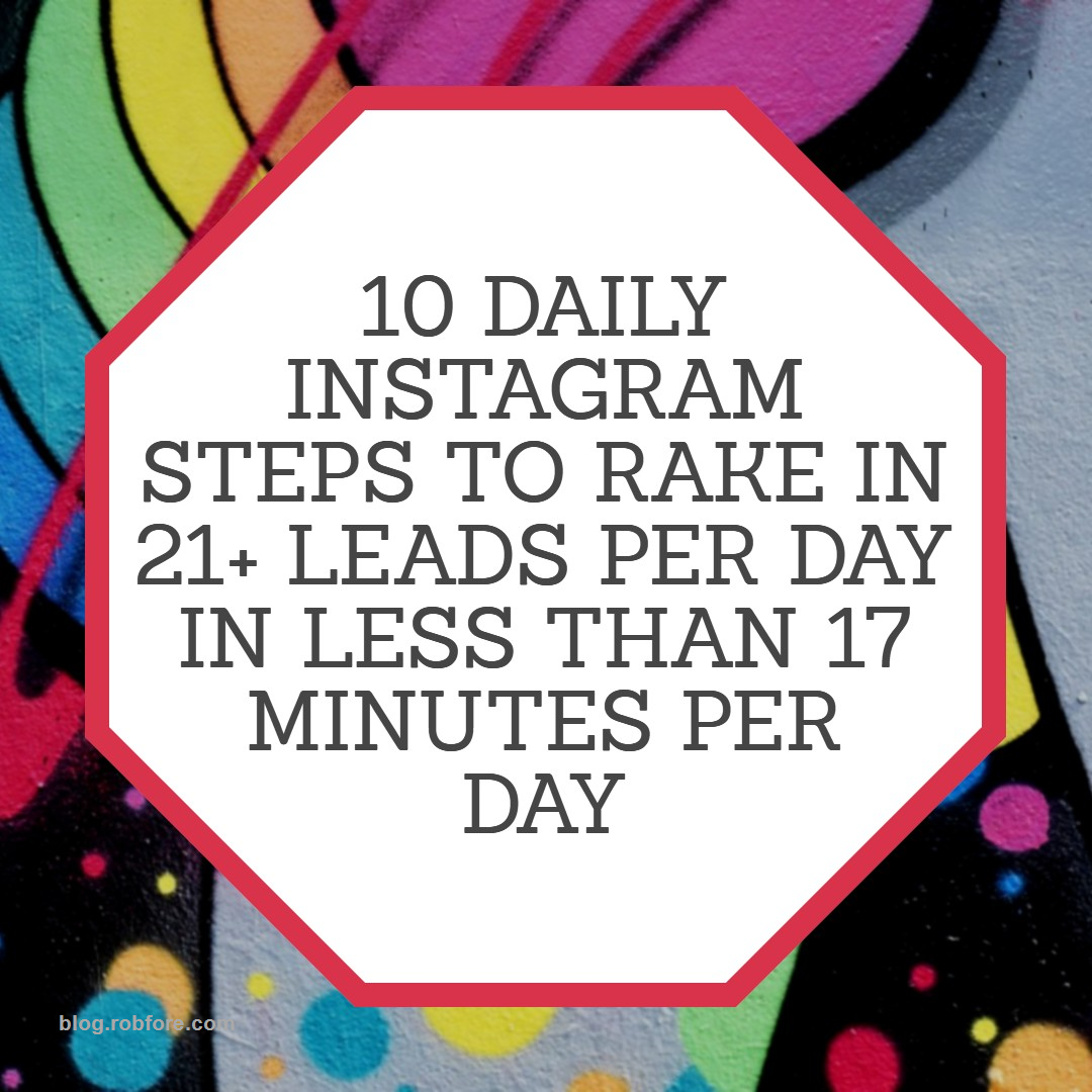 Instagram 10 Point Pdf Cheat Sheet For Leads Instaleads
