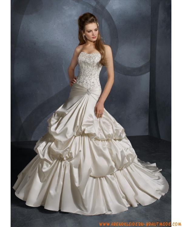 Luxuriöses Brautkleid Bestverkauft aus Taft mit Korsage und Schleppe ...