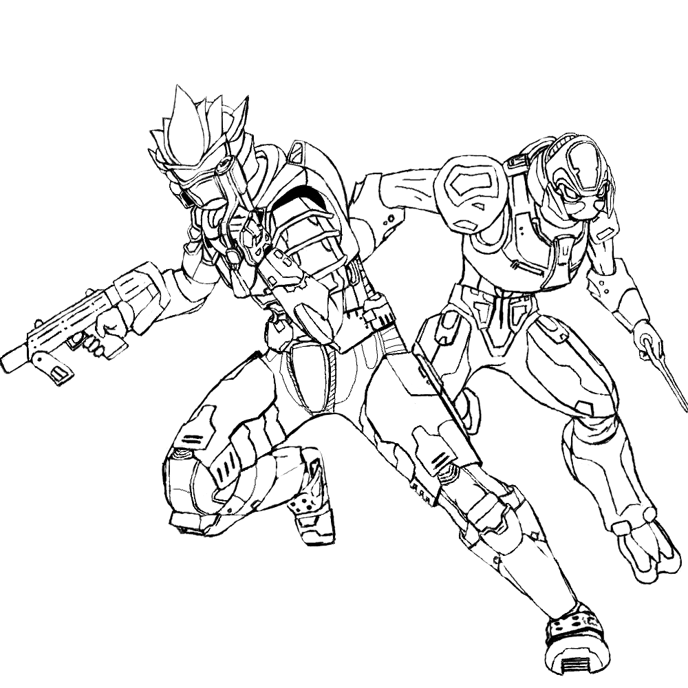 Explore Halo 3 Coloring Pages And More