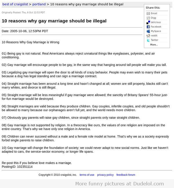 10 Excellent reasons why gay marriage should be illegal Good to - marriage contract