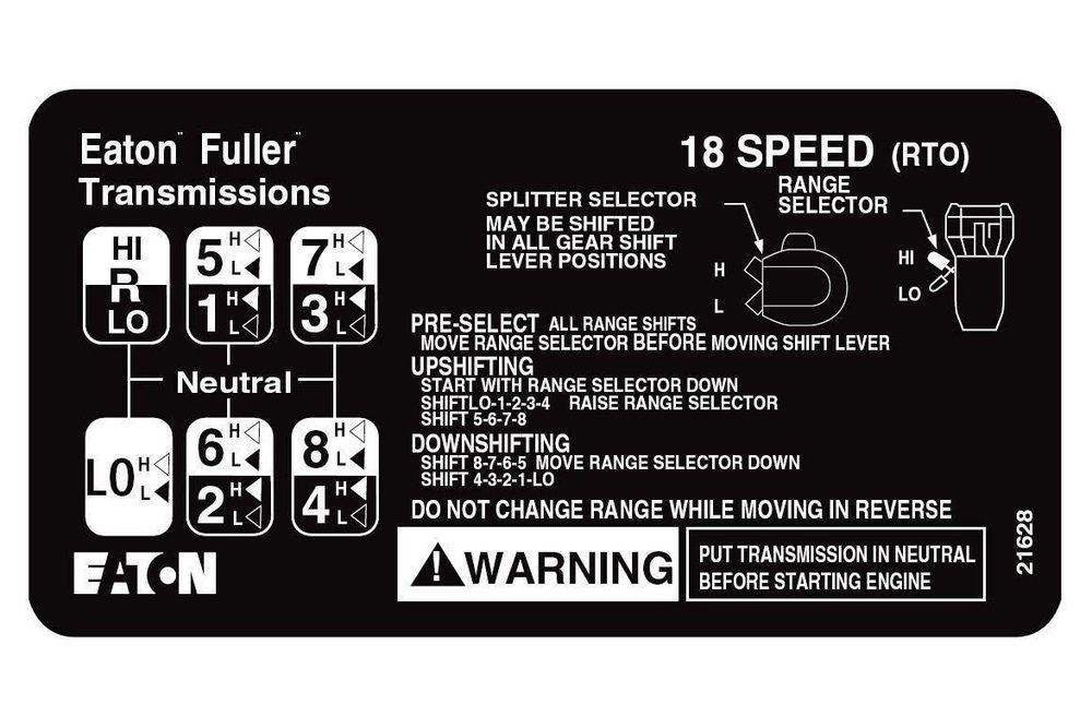 Eaton Fuller Road Ranger 18 Speed Eaton Fuller Driving School Eaton Transmission