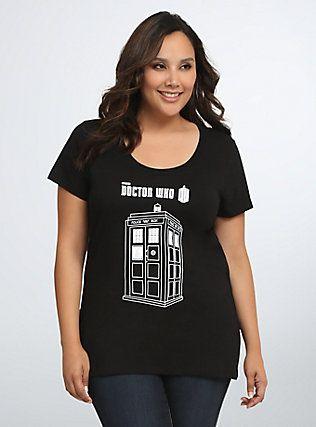 Doctor Who Scoop Tee, BLACK