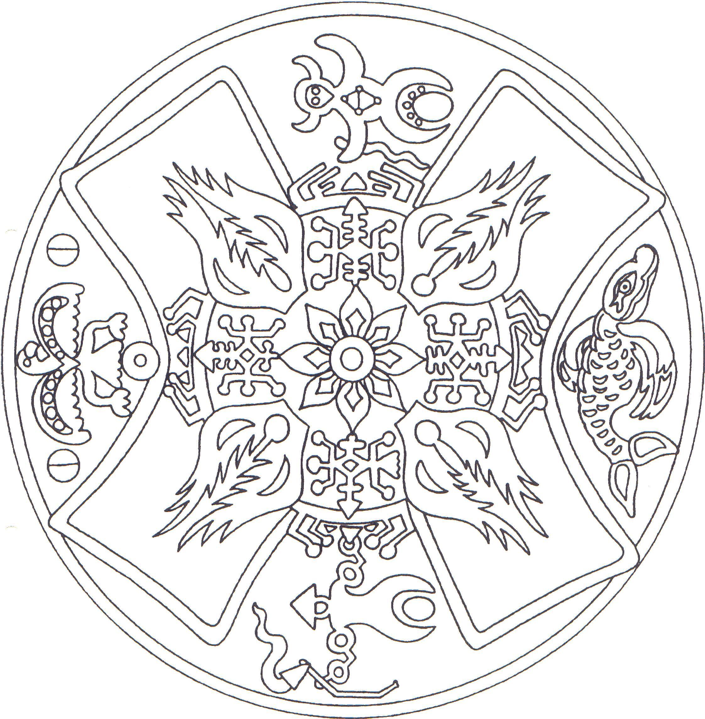 Indianen Mandala 2 Jpg 2244 2288 Mandala Thema Kleurplaten