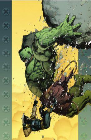 Hulk and Wolverine Battle