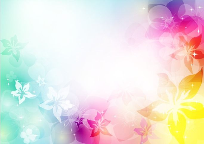 Abstract Artistic Background With Flower In Colorful Vector