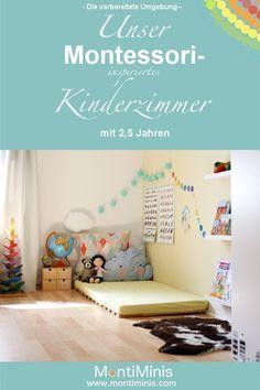 Photo of Michels children's room with 2.5 years – Montessori blog – MontiMinis