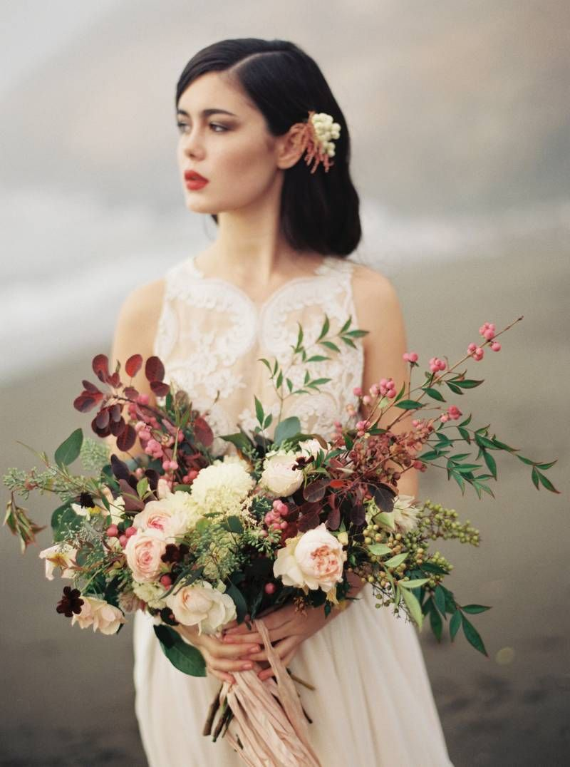 A strikingly beautiful beach wedding editorial by this modern