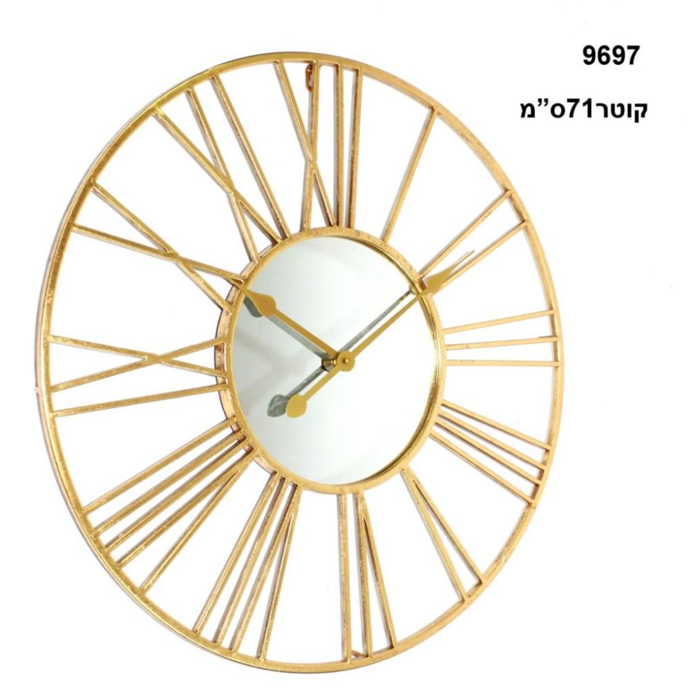 שעון קיר ספרות רומיות כסוף מחוגים כסופים מגוון דוגמאות שעונים מעוצבים שעון לחדר שינה שעון לכניסה לבית שעון לסלון לבירורי Gold Wall Clock Wall Clock Metal Clock