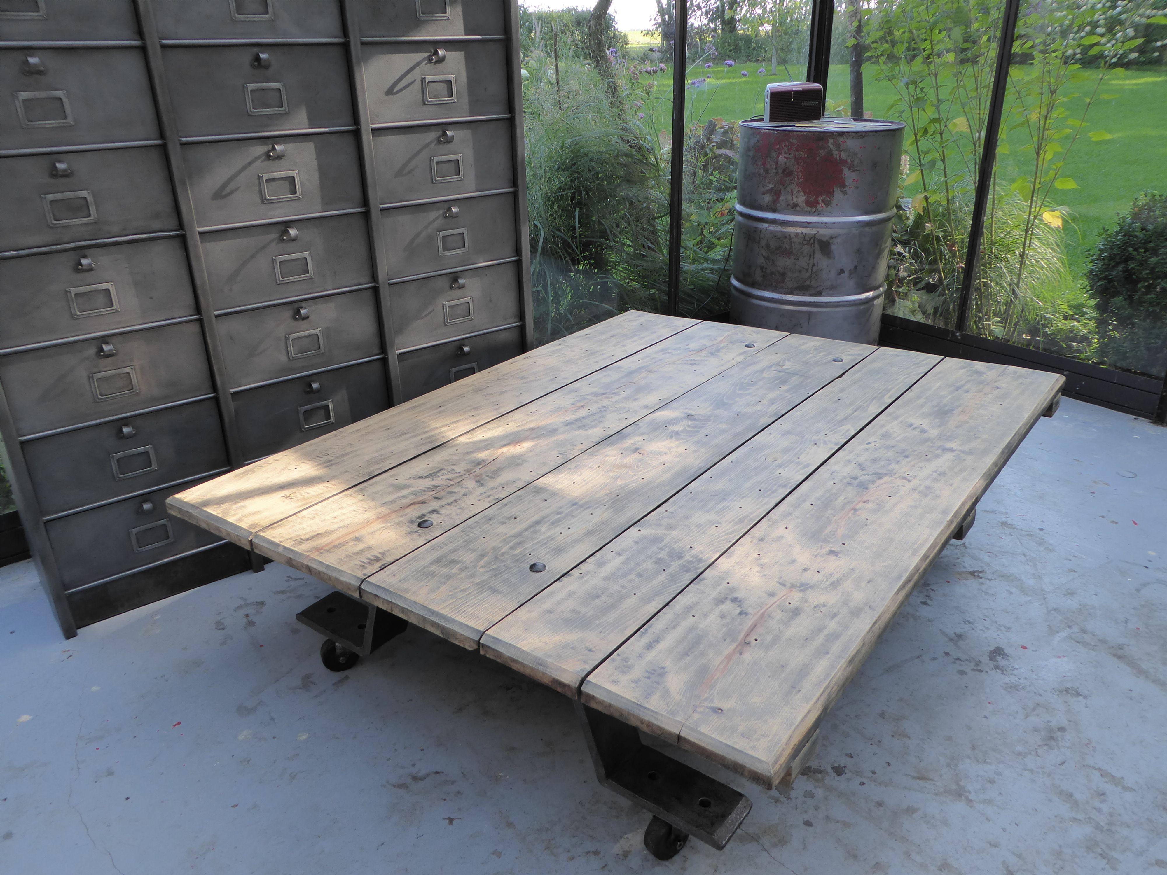 Inspirationrecup Com Vous Propose Cette Table Basse Xxl De Metier