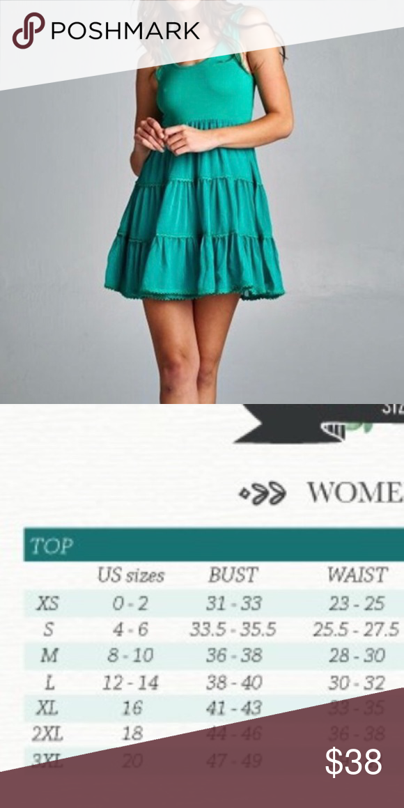 Gorgeous emerald green baby doll dress with tiered bottom available in small medium and large please refer to size chart dresses mini also clearance final price boutique my posh rh pinterest