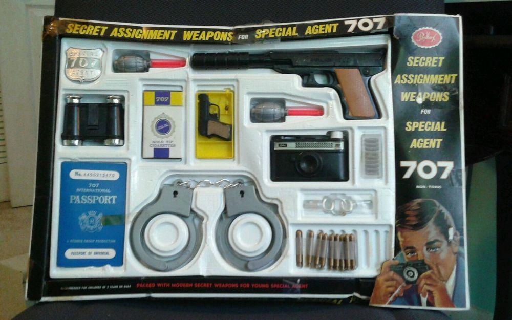 Kids Toys Action Figure: 1960s SPECIAL AGENT SET 707 Secret Assignment Weapons SPY