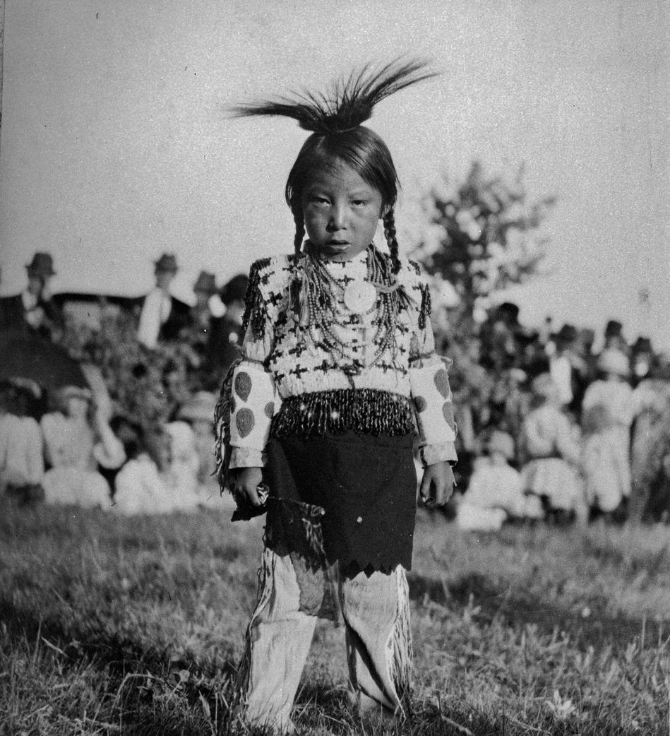 The son of Burning Sweetgrass on the White Bear Reserve in Saskatchewan . Cree.   c. 1910