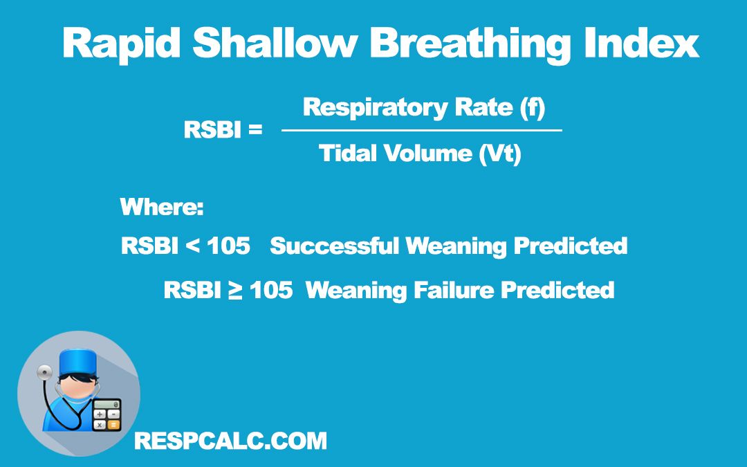 Rapid Shallow Breathing Index Rsbi 105 Breaths Respiratory Therapy Exam Respiratory Therapy Health Science