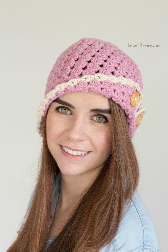 CROCHET PATTERN Strawberry Eclair Cloche Hat | hats | Pinterest ...
