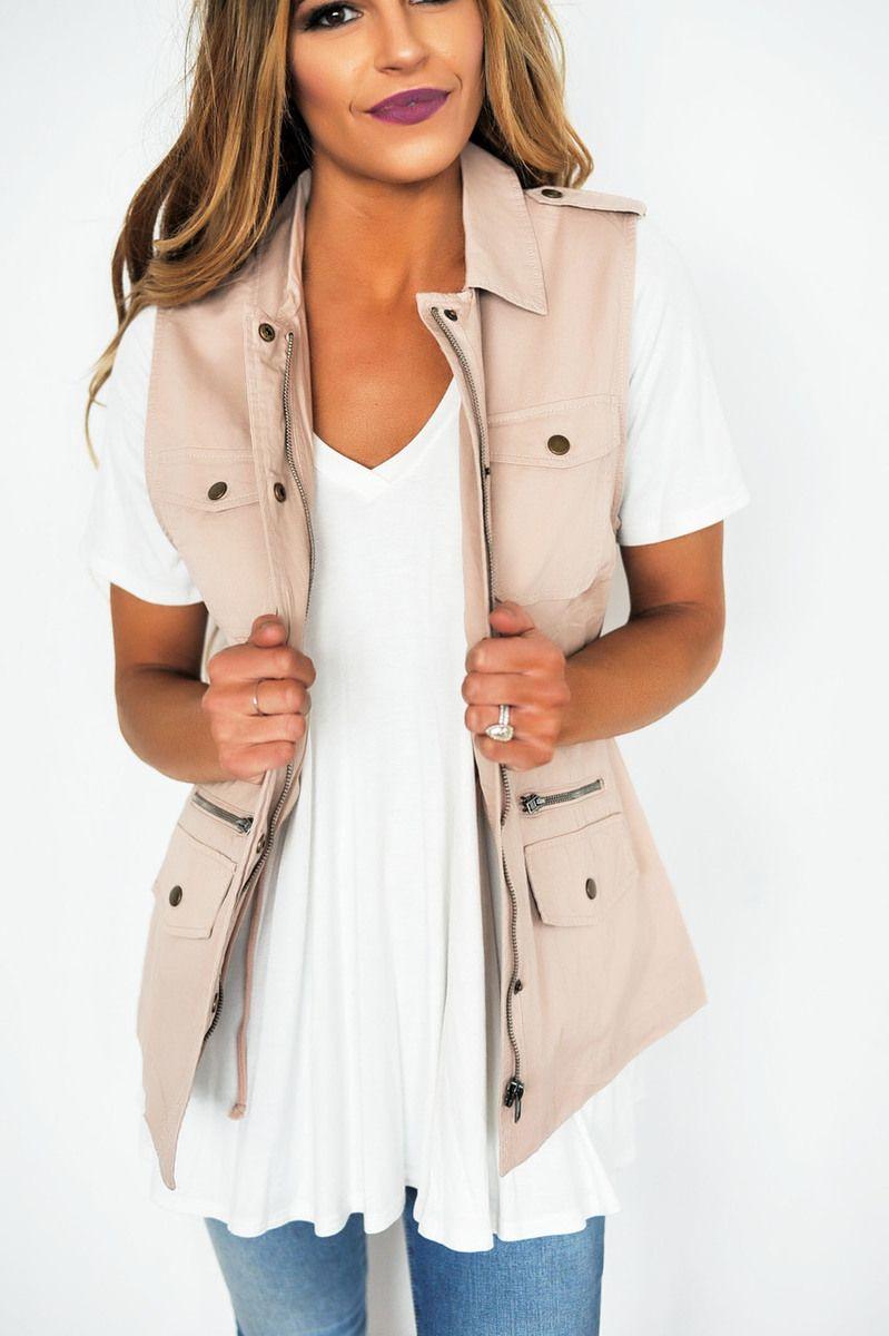 cd8e97962727c Blush Pocket Vest - Dottie Couture Boutique