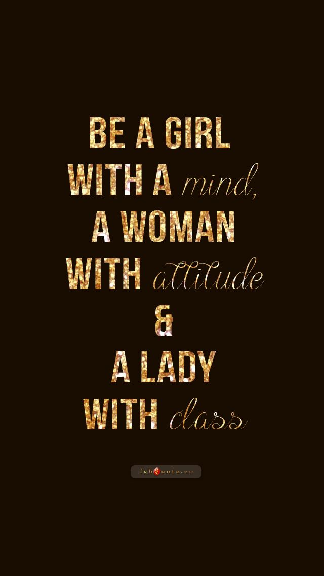 Be a Lady with Class"