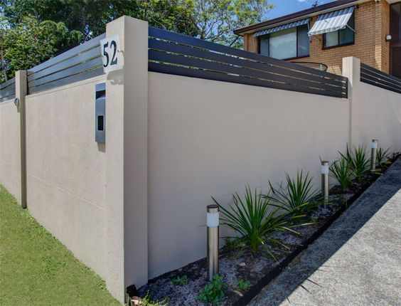 home fences designs. Cement fence designs for your home  Fences Yard privacy and