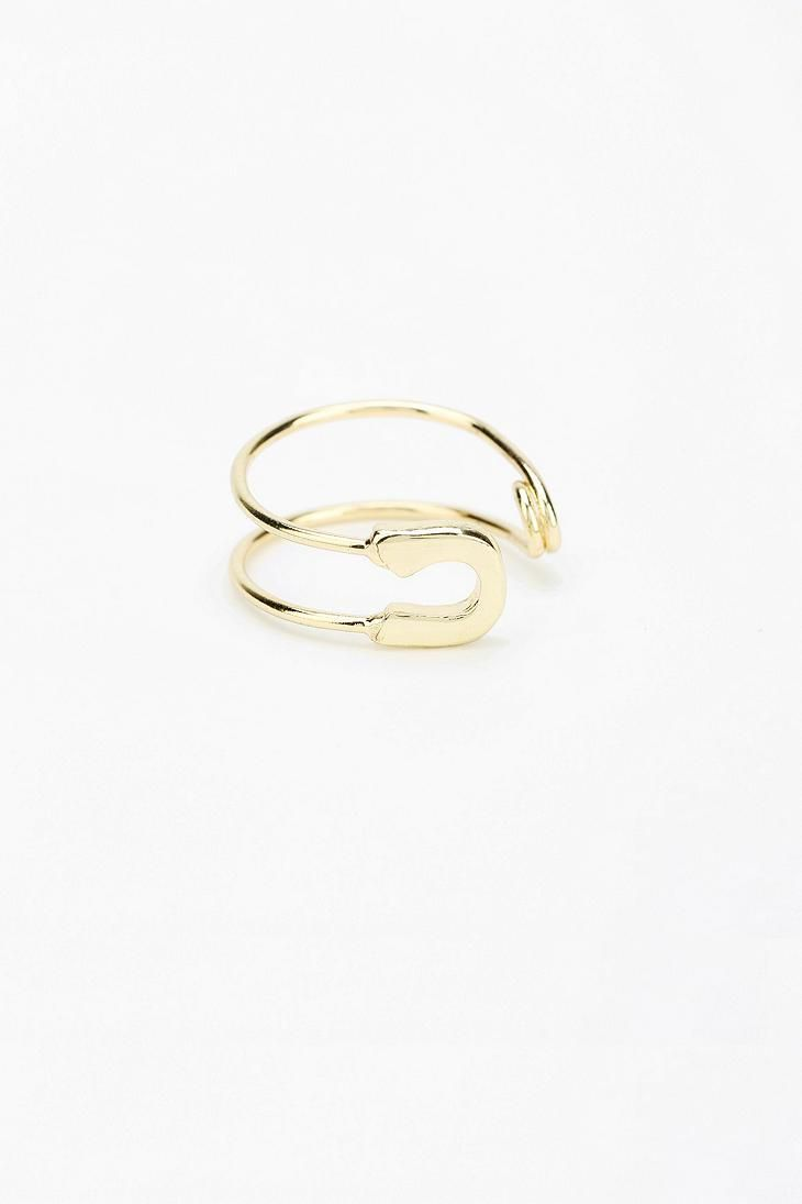 Safety Pin Ring #urbanoutfitters