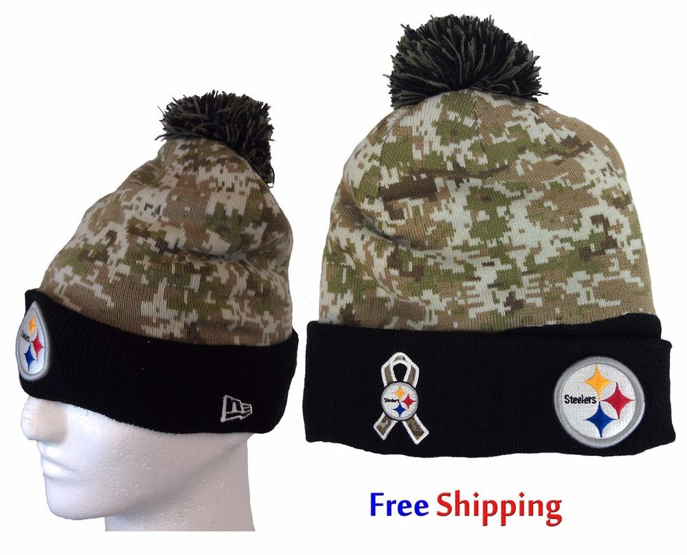 22.99 Free Ship Pittsburgh Steelers Salute To Service Knit Camo New Era  Winter Hat Beanie NEW  NewEra  PittsburghSteelers  NFL  Winter 5afa8b6e4