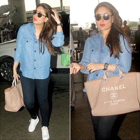 Kareena Kapoor Denim Jacket Women Preggo Fashion Bollywood Fashion