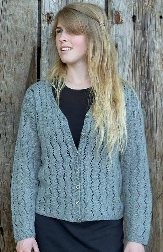 Zig Zag Lace Cardigan Knitting Pattern - PDF | Mainly Knitting and ...