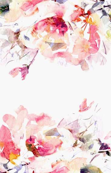 Lovely Simple Watercolor Mural Floral Wallpaper Floral Watercolor