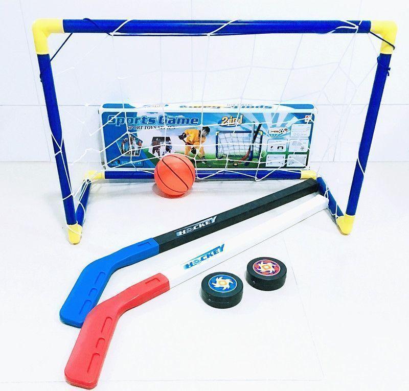 448afdee91f 6pcs set Kids Child Ice Hockey Stick Training Tools Plastic 2xSticks 2xBall  1football 1goal Sports