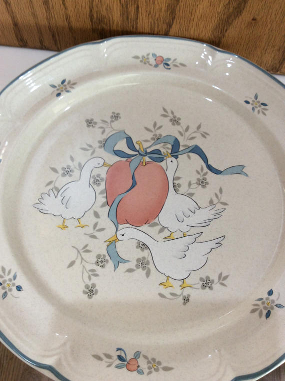 Image result for stoneware geese plates