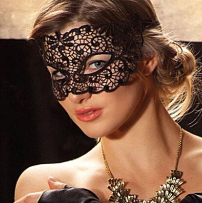 c03667c5516 Black Lace Mask Lace tie back Queen Mask Masquerade by skulllace, $4.99