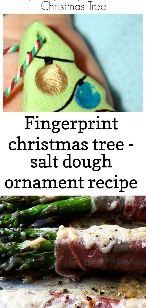 Fingerprint christmas tree - salt dough ornament recipe 1 #saltdoughornaments