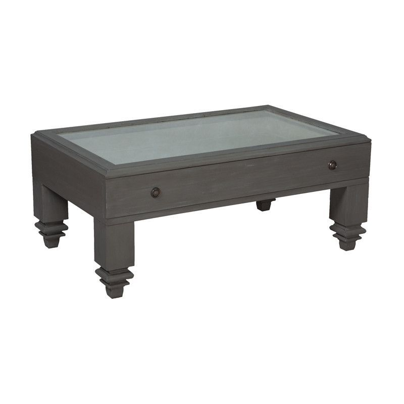 "Grey Manor Shadow Box Cocktail Table - 20""x48"""