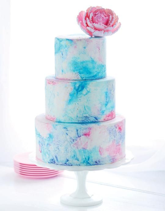 Cake Of The Day Watercolor Graffiti Cake By Sweetapolita