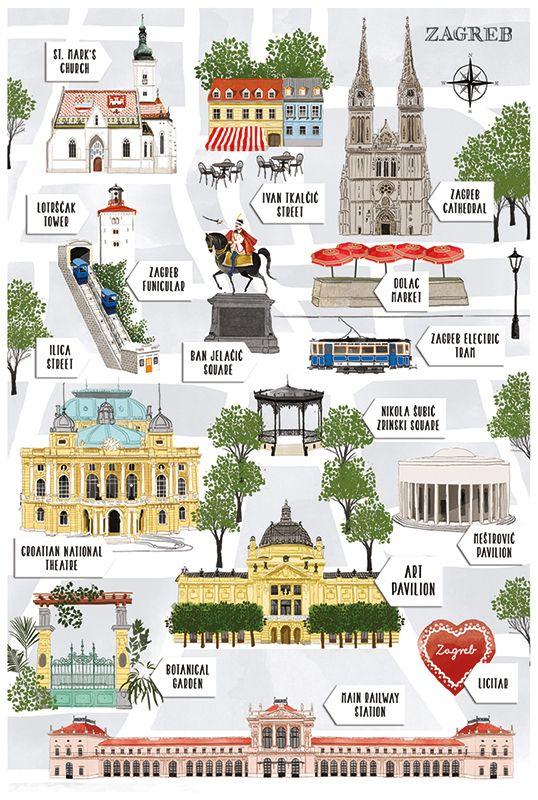 Postcards Of Zagreb 2016 On Behance Zagreb Zagreb Croatia Croatia Travel