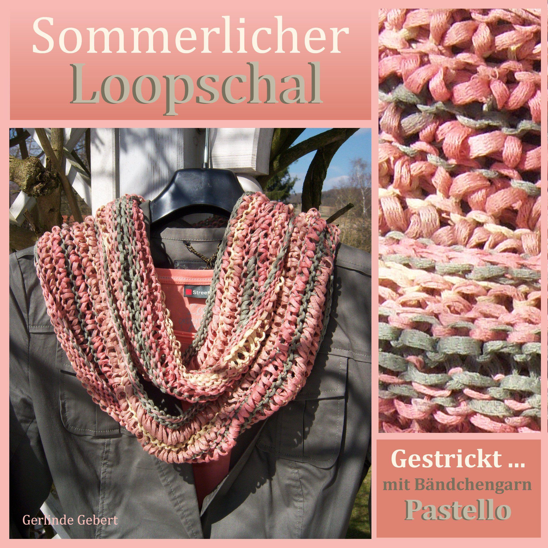 Gestrickter Loopschal Design Gerlinde Gebert Shop www