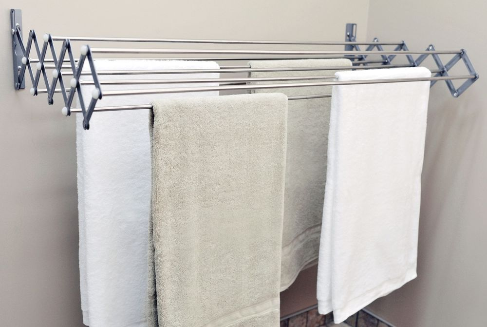 Laundry Drying Rack Expandable Wall Mounted Room Space Saving