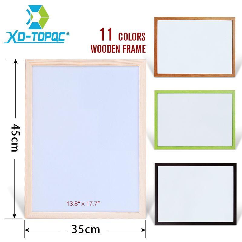 XINDI 35*45cm Free Shipping New Dry Wipe WhiteBoard Pine Wood Frame ...