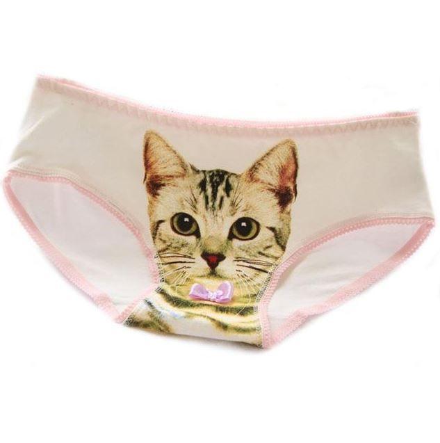 bfc142803520b  7.42 Hot Selling Cotton Panties Women s Plus Size Underwear Briefs 3D  Printing Panty Cat Panties Sexy Girls Intimates new fashion CM