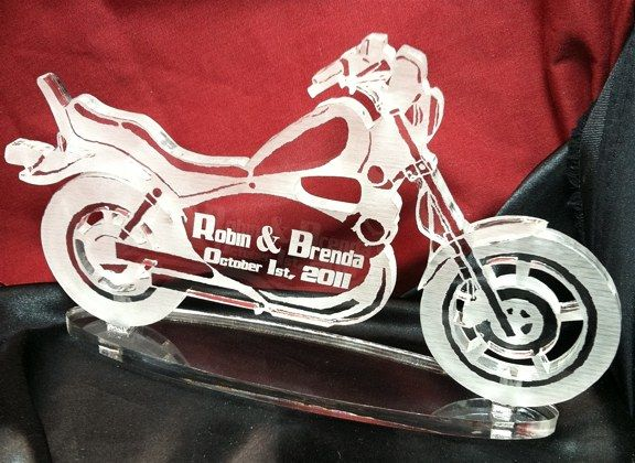 Wedding Cake Toppers Motorcycle Topper Engraved Acrylic Clic Style Previous In