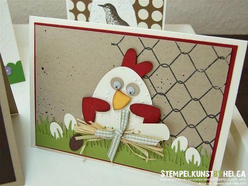 Geniale Idee, statt Osterhase mal ein Huhn zu Ostern