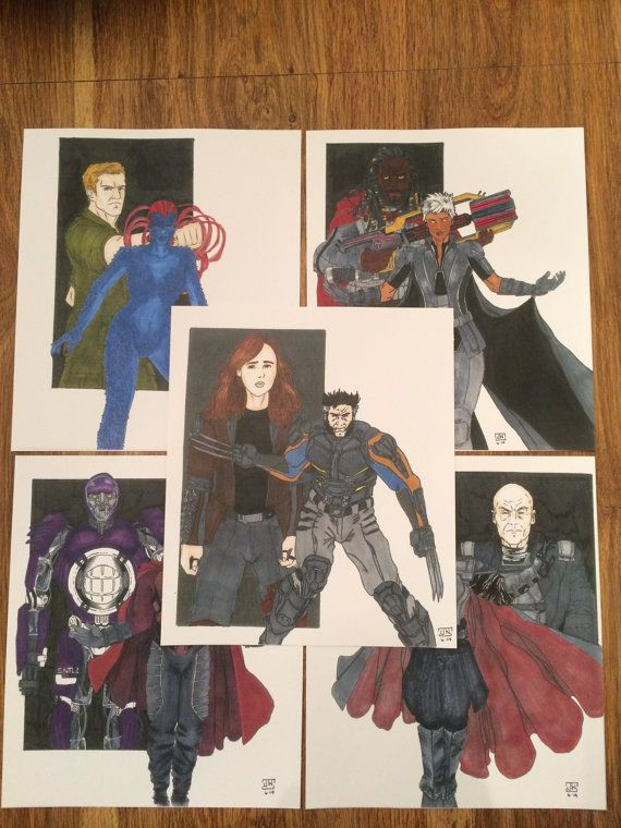 X-men: Days of Future Past Character Prints (Pack 1) on Etsy, $80.00