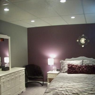 Purple And Gray Bedroom Master Multidao