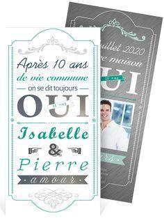 anniversaire de mariage 10 ans invitation