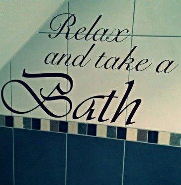 Muursticker Badkamer - Relax and take a Bath - badkamers | Pinterest ...