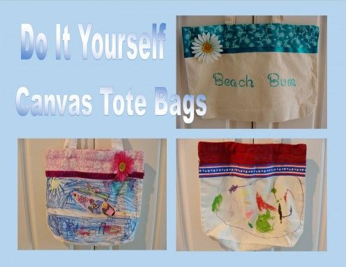 eb453f1bb4 How to Personalize a Canvas Tote Bag | Craft Ideas | Canvas tote ...