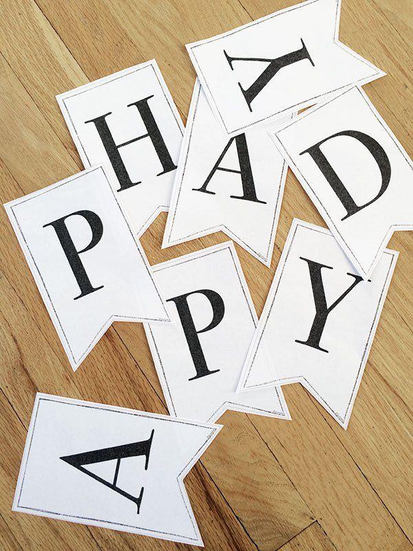 Printable Classic Alphabet Banner Pennants | Banner letters ...